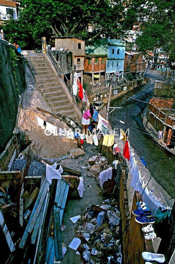 Favela da Rocinha. Rio de Janeiro. 1988. Foto de Juca Martins.