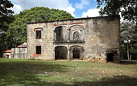 House of the mill owner and his family, at the Ingenio de Engombe, or Engombe Sugar Mill, a 16th century Renaissance sugar mill with mansion and chapel, in Santo Domingo Este, a suburb of Santo Domingo, in the Dominican Republic, Caribbean. The mill was used for the manufacture of sugar cane and the quality of the architecture is testament to the importance of the sugar industry in the Caribbean at this time. Picture by Manuel Cohen