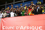 Football fans cheer ahead of the 2017 Africa Cup of Nations group D football match between Mali and Egypt in Port-Gentil on January 17, 2017. Photo by Stranger