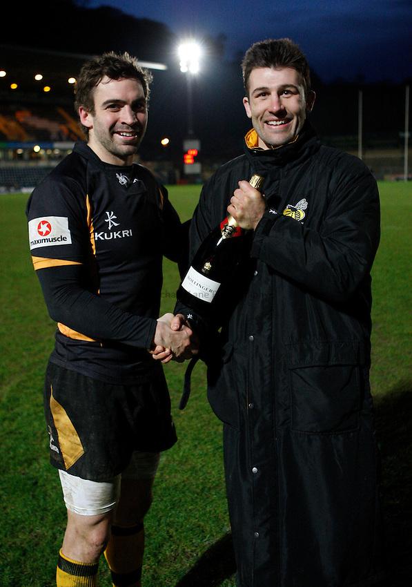 Photo: Richard Lane/Richard Lane Photography. London Wasps v Rugby Mogliano. Amlin Challenge Cup. 12/01/2013. Wasps'