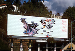 Billboard for Pink Floyd record album The Wall on the Sunset Strip in Los Angeles, California circ 1980