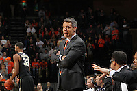 Virginia head coach Tony Bennett watches a play during the game against Wake Forest Wednesday Jan. 08, 2014 in Charlottesville, Va. Virginia defeated Wake Forest 74-51.
