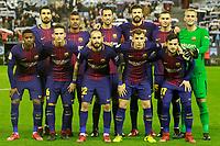 FC Barcelona's team photo with Andre Gomes, Paulinho, Sergio Busquets, Gerard Pique, Thomas Vermaelen, Jasper Cillessen, Nelson Semedo, Denis Suarez, Aleix Vidal, Lucas Digne and Jose Arnaiz during Spanish Kings Cup match. January 4,2018. (ALTERPHOTOS/Acero)