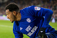 Nathaniel Mendez-Laing of Cardiff City during the Sky Bet Championship match between Cardiff City and Hull City at the Cardiff City Stadium, Cardiff, Wales on 16 December 2017. Photo by Mark  Hawkins / PRiME Media Images.