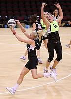 19.10.2016 Silver Ferns Storm Purvis and Laura Langman in action during the Silver Ferns Training in Invercargill. Mandatory Photo Credit ©Michael Bradley.