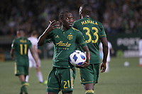 Portland, Oregon - Wednesday, August 29, 2018: Portland Timbers FC vs Toronto FC in a match at Providence Park.