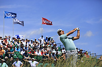 Chan Kim (USA) tees off the 1st tee to start his match during Thursday's Round 1 of the 117th U.S. Open Championship 2017 held at Erin Hills, Erin, Wisconsin, USA. 15th June 2017.<br /> Picture: Eoin Clarke | Golffile<br /> <br /> <br /> All photos usage must carry mandatory copyright credit (&copy; Golffile | Eoin Clarke)