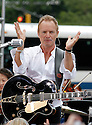 "NEW YORK - JULY 15:  Sting performs on CBS' ""The Early Show"" at CBS Early Show Studio Plaza on July 15, 2010 in New York City.  (Photo by Soul Brother/FilmMagic)"