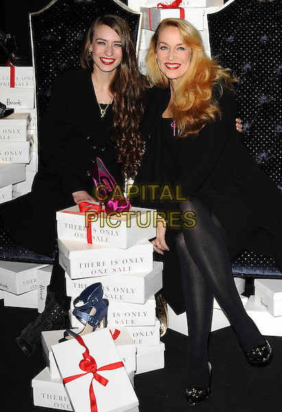 Monday, December 27, 2010<br /> Jerry Hall and Elizabeth Jagger open the Harrods Sale, London, England.<br /> CAP/CK<br /> &copy;CK/Capital Pictures