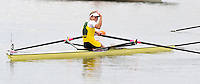Brandenburg, GERMANY, AUS BLW1X,  Carly COTTAM, Gold  medalist Lightweight women's single, at the  2008 FISA U23 World Rowing Championships, Sunday, 20/07/2008, [Mandatory credit: Peter Spurrier Intersport Images]..... Rowing Course: Brandenburg, Havel Rowing Course, Brandenburg, GERMANY
