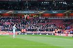 Empty away seats after many Moscow fans decided not to travel during the UEFA Europa League Quarter-Final 1st leg match at the Emirates Stadium, London. Picture date 5th April 2018. Picture credit should read: Charlie Forgham-Bailey/Sportimage