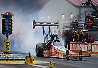 Sep 1, 2017; Clermont, IN, USA; NHRA top fuel driver Doug Kalitta during qualifying for the US Nationals at Lucas Oil Raceway. Mandatory Credit: Mark J. Rebilas-USA TODAY Sports