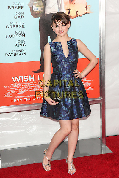 NEW YORK, NY - JULY 14: Joey King attends the 'Wish I Was Here' screening at AMC Lincoln Square Theater on July 14, 2014 in New York City.  <br /> CAP/MPI/COR<br /> &copy;COR/MPI/Capital Pictures