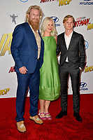 Rune Temte, Thea Glimsdal Temte &amp; Martinius Glimsdal Temte at the premiere for &quot;Ant-Man and the Wasp&quot; at the El Capitan Theatre, Los Angeles, USA 25 June 2018<br /> Picture: Paul Smith/Featureflash/SilverHub 0208 004 5359 sales@silverhubmedia.com
