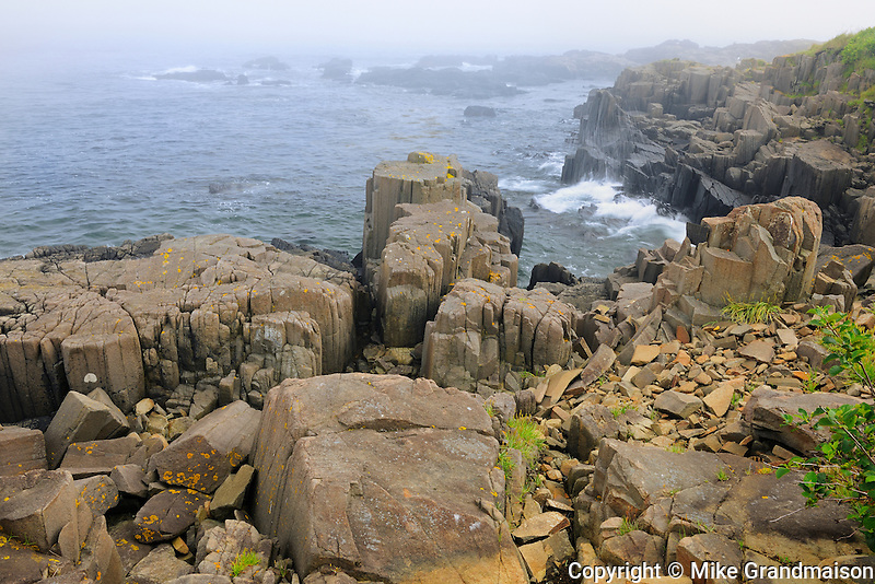 Basalt rock on Bay of Fundy<br /> Brier Island<br /> Nova Scotia<br /> Canada