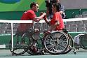 (L-R)<br /> Gerard Joachim (BEL),<br /> Shingo Kunieda (JPN),<br /> SEPTEMBER 13, 2016 - Wheelchair Tennis : <br /> Men's Singles Quater-Final<br /> at Olympic Tennis Centre<br /> during the Rio 2016 Paralympic Games in Rio de Janeiro, Brazil.<br /> (Photo by Shingo Ito/AFLO)