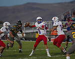 Reno quarterback #6 Drake Vestbie throws for a touchdown against Galena in the first quarter of their football game played on Friday night Sept. 16, 2016 at Galena High School.
