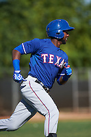 Texas Rangers Jurickson Profar (13) during an instructional league game against the San Diego Padres on October 9, 2015 at the Surprise Stadium Training Complex in Surprise, Arizona.  (Mike Janes/Four Seam Images)