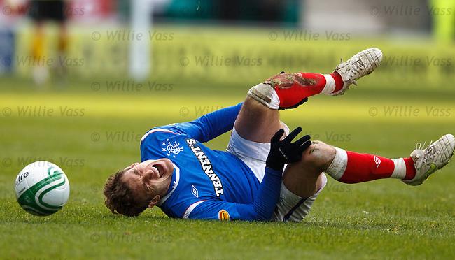 Nikica Jelavic takes a sore one