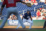 Reno Aces' Ildemaro Vargas runs the bases against the Sacramento River Cats at Greater Nevada Field in Reno, Nev., on Tuesday, July 26, 2016.  <br />Photo by Cathleen Allison
