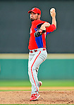 9 March 2011: Philadelphia Phillies' pitcher David Herndon on the mound during a Spring Training game against the Detroit Tigers at Joker Marchant Stadium in Lakeland, Florida. The Phillies defeated the Tigers 5-3 in Grapefruit League play. Mandatory Credit: Ed Wolfstein Photo