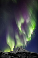 Northern lights over the Brooks Range, Alaska.