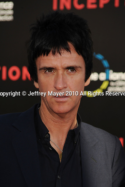 "HOLLYWOOD, CA. - July 13: Johnny Marr arrives to the ""Inception"" Los Angeles Premiere at Grauman's Chinese Theatre on July 13, 2010 in Hollywood, California."