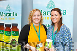 Corinna Brennan (Macánta) and Claire Grady (Mag 365) at the Horans Health & Wellness Exhibition in the Rose Hotel on Saturday.