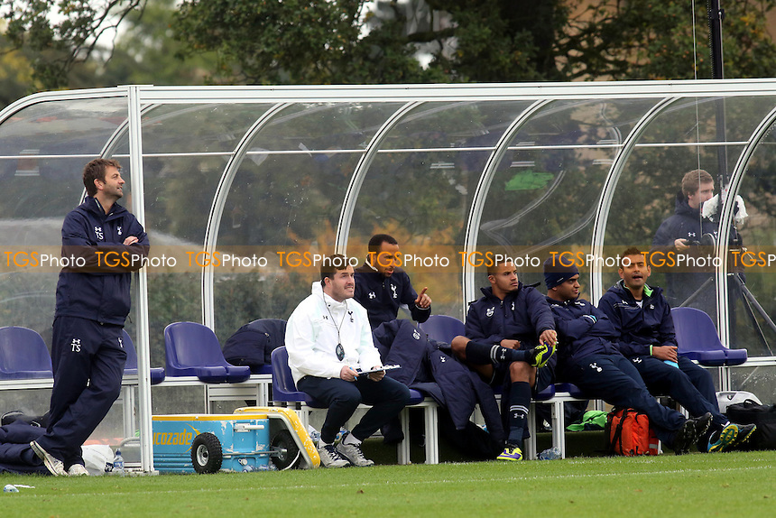 Andros Townsend was back in the dugout with Tottenham Under 21's today making a few points to his younger teammates - Tottenham Hotspur Under-21 vs Leicester City Under-21 - Barclays Under-21 Premier League Football - 21/10/13 - MANDATORY CREDIT: Paul Dennis/TGSPHOTO - Self billing applies where appropriate - 0845 094 6026 - contact@tgsphoto.co.uk - NO UNPAID USE