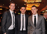 Ronan Quill, Jack Savage and Mitchell Donnelly, TRalee, at the Bord Gais Energy Munster GAA Awards in The Malton Hotel, Killarney at the weekend.<br /> Picture by Don MacMonagle<br /> PR photo from Munster Council<br /> Further info: ed Donnelly e;pro.munster@gaa.ie