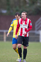 George Purcell of AFC Hornchurch, scorer of the opening goal during AFC Hornchurch vs Haringey Borough, Bostik League Division 1 North Football at Hornchurch Stadium on 10th February 2018