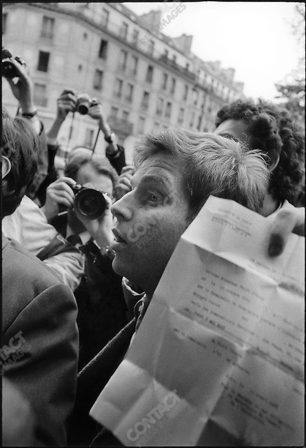 The 1968 May Events, Daniel Cohn-Bendit in front of the Sorbonne University, Paris, France, May 6, 1968