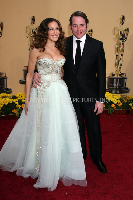WWW.ACEPIXS.COM . . . . .  ....February 22, 2009. Hollywood, CA....Actors Sarah Jessica Parker and Matthew Broderick arrives at the 81st Annual Academy Awards held at the Kodak Theater on February 22, 2009 in Hollywood, CA.......Please byline: Z09- ACEPIXS.COM.... *** ***..Ace Pictures, Inc:  ..Philip Vaughan (646) 769 0430..e-mail: info@acepixs.com..web: http://www.acepixs.com