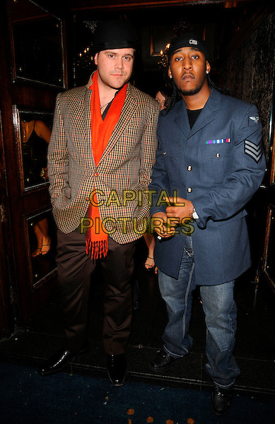 DANIEL BEDINGFIELD.At the Black Entertainment TV Launch Party, Cafe de Paris, London, England,.March 1st 2008..full length hat jacket red scarf.CAP/CAN.?Can Nguyen/Capital Pictures