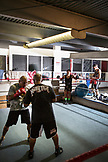 USA, Oahu, Hawaii, portrait of MMA Mixed Martial Arts Ultimate fighter Lowen Tynanes at his training gym in Honolulu