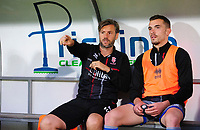 Lincoln City's assistant manager Nicky Cowley, left, and Lincoln City's Harry Toffolo<br /> <br /> Photographer Chris Vaughan/CameraSport<br /> <br /> EFL Leasing.com Trophy - Northern Section - Group H - Doncaster Rovers v Lincoln City - Tuesday 3rd September 2019 - Keepmoat Stadium - Doncaster<br />  <br /> World Copyright © 2018 CameraSport. All rights reserved. 43 Linden Ave. Countesthorpe. Leicester. England. LE8 5PG - Tel: +44 (0) 116 277 4147 - admin@camerasport.com - www.camerasport.com