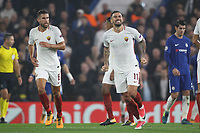 Esultanza gol Aleksandar Kolarov goal celebration<br /> Londra 18-10-2017 Stamford Bridge Football Champions League 2017/2018 Chelsea - Roma <br /> Foto Gino Mancini / Insidefoto