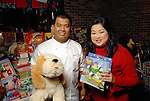 Chef Junnajet Hurapan and Gigi Huang at the Carmen and David Bridges Joyful Toyful Fiesta 19th Annual Holiday Toy Drive Party at Gigi's Asian Bistro & Dumpling Bar in the Galleria Tuesday Dec. 01,2009. (Dave Rossman/For the Chronicle)