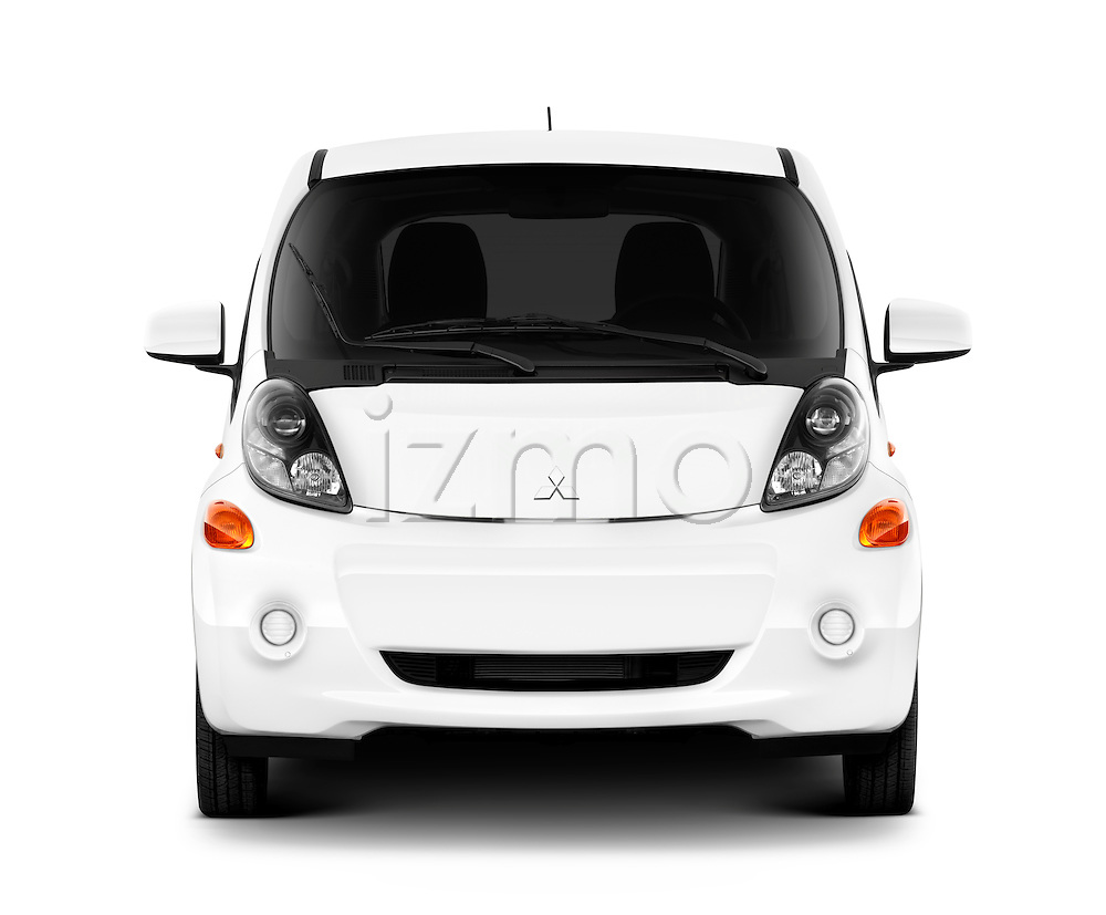 Straight front view of a 2012 Mitsubishi MiEV ES