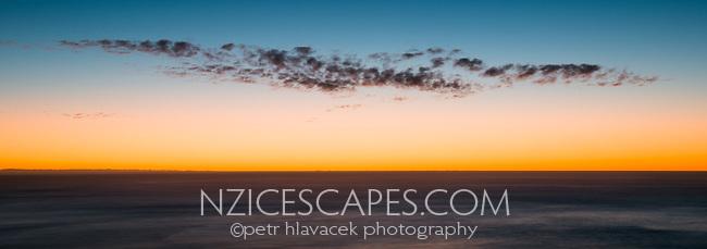 Sunset over Tasman Sea in Punakaiki, Paparoa National Park, West Coast, New Zealand