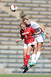 06 October 2013: North Carolina's Kelly McFarlane (right) and Maryland's Lauren Berman (left). The University of North Carolina Tar Heels hosted the University of Maryland Terrapins at Fetzer Field in Chapel Hill, NC in a 2013 NCAA Division I Women's Soccer match. UNC won the game 3-1.