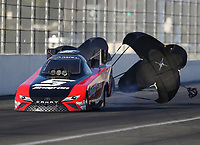 Feb 9, 2018; Pomona, CA, USA; NHRA funny car driver Cruz Pedregon during qualifying for the Winternationals at Auto Club Raceway at Pomona. Mandatory Credit: Mark J. Rebilas-USA TODAY Sports