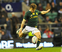 Rugby Union. Twickenham, England. Pat Lambie (The Sharks) of South Africa in action during the QBE international match between England and South Africa at Twickenham Stadium on November 24, 2012 in Twickenham, England.