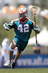 Carson, CA 07/22/06 - After recovering from an injury, Todd Eichelberger took to the midfield and scored his first MLL goal