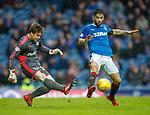 07.04.2018 Rangers v Dundee:<br /> Daniel Candeias closes down sub keeper Calum Ferrie