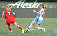 Portland, OR - Saturday August 19, 2017: Janine Beckie during a regular season National Women's Soccer League (NWSL) match between the Portland Thorns FC and the Houston Dash at Providence Park.