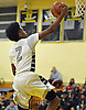 Victor Olawoye #2 of Elmont drives to the net for a basket during a non-league game against Brentwood in the Richard Brown Nassau-Suffolk Challenge at Uniondale High School on Saturday, Jan. 14, 2017. Elmont won by a score of 60-51.