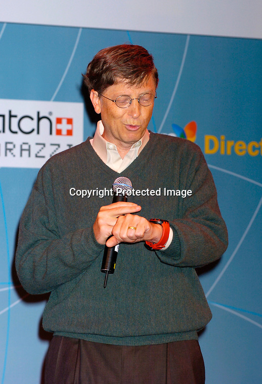 Bill Gates ..at the Swatch and Microsoft launch of a new watch line called Paparazzi on October 20, 2004 at The Supper Club. ..Photo by Robin Platzer, Twin Images
