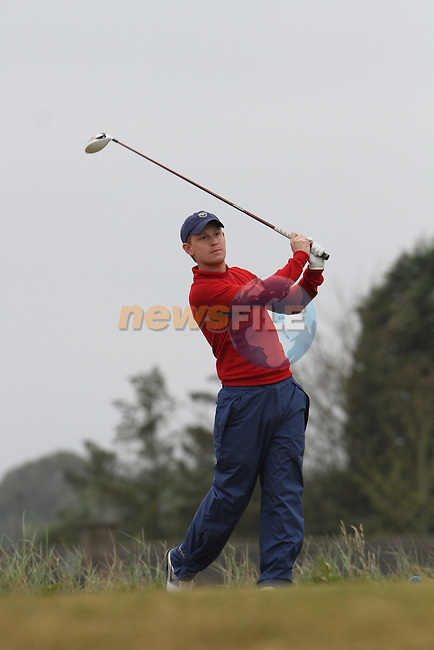 Darragh F Coghlan (The Royal Dublin) on the 11th Tee, Day 2 at the East of Ireland Amateur Open Championship 2011 in Co.Louth Golf Club....(Photo credit should read Jenny Matthews www.newsfile.ie)....This Picture has been sent you under the conditions enclosed by:.Newsfile Ltd..The Studio,.Millmount Abbey,.Drogheda,.Co Meath..Ireland..Tel: +353(0)41-9871240.Fax: +353(0)41-9871260.GSM: +353(0)86-2500958.email: pictures@newsfile.ie.www.newsfile.ie.