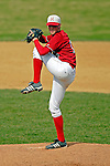 21 April 2007: University of Hartford Hawks' Adam Flaherty, a Senior from South Windsor, CT, on the mound against the University of Vermont Catamounts at Historic Centennial Field, in Burlington, Vermont. The Catamounts defeated the Hawks 3-2 to sweep the afternoon double-header...Mandatory Photo Credit: Ed Wolfstein Photo